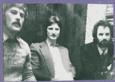 1976, Союз трех, слева направо Алик Арсентьев, Юра Ивановский_ период написания В тени августа