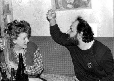 1985, с женой у Зарика Коловского © З. Коловский