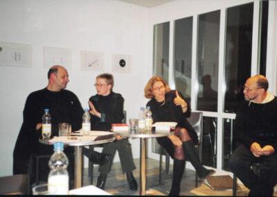2003, выступление в Цюрихе, справа Д.А. Пригов